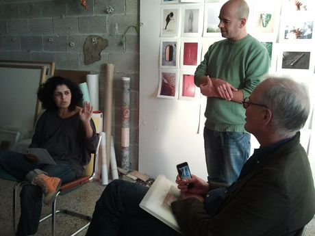 Orit Siman Tov, Jaakov Israel - studio visit at The Artists Studios Center, Jerusalem